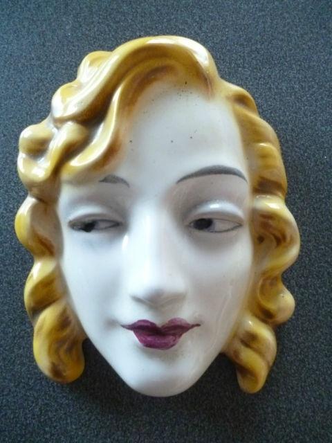 Original GOEBEL 'Marlene Dietrich' Art Deco Wall Mask / Plaque