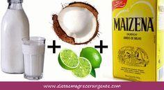 Máscara de alisamento natural com leite de coco, limão e maisena