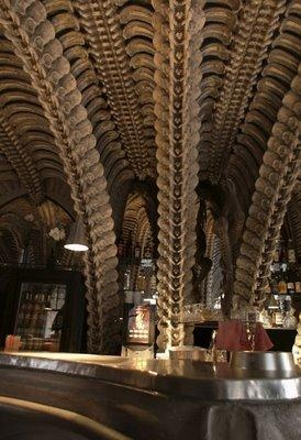 "HR Giger Museum Bar, Gruyeres Switzerland. by HR Giger (of ""Alien"" film)"