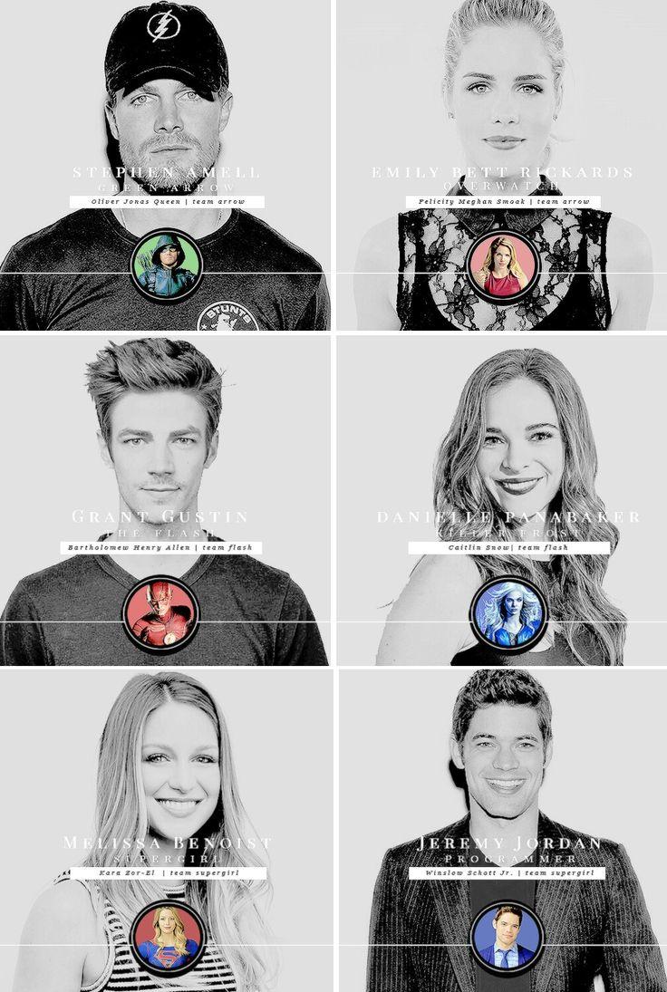 Oliver & Felicity #Olicity Barry & Caitlin #Snowbarry Kara & Winn…