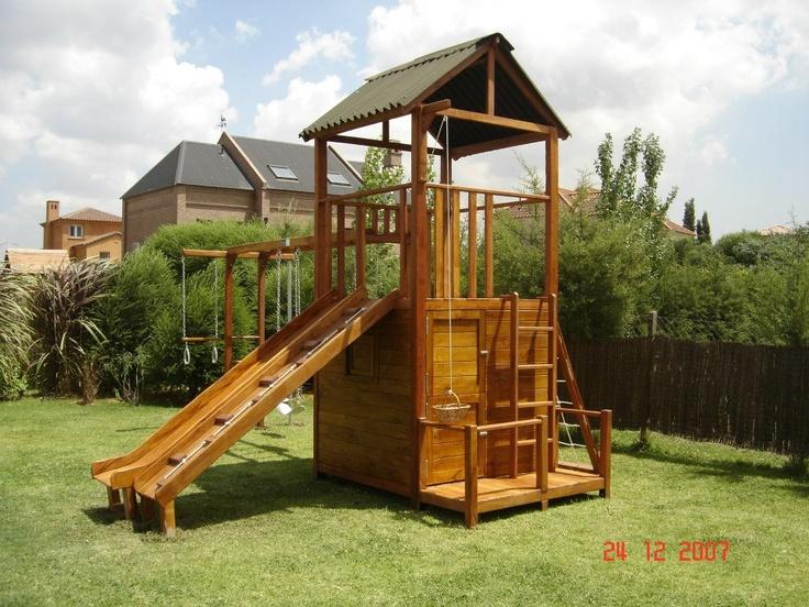 Juegos de madera para jardin juego guilligan sc01 for Casas para jardin infantil