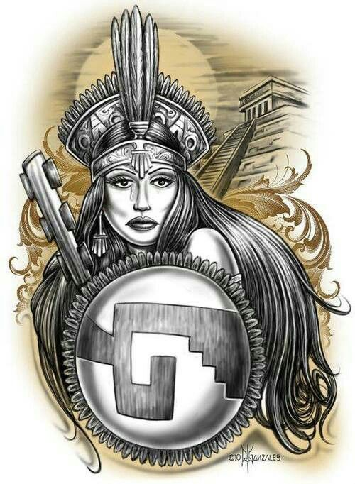 54 best images about chicano muralz on pinterest for Aztec mural tattoos