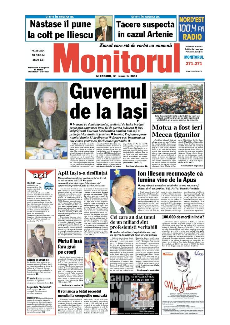 Monitorul din 31 ianuarie 2001
