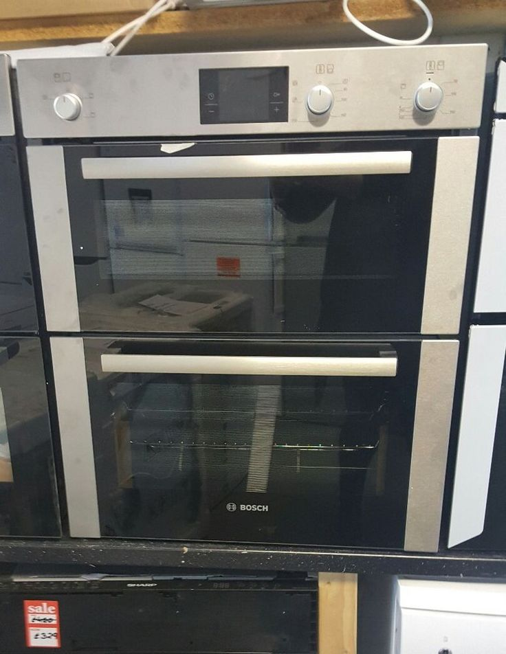 Brand New BOSCH HBN13B251B Electric Built-under Double Oven - Brushed Steel  4242002808536   eBay