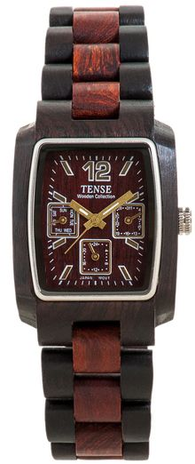 Tense Wooden Watches: Unique time-pieces made in Canada : Alpine - Model J8302DS [J8302DS] - $189.00USD