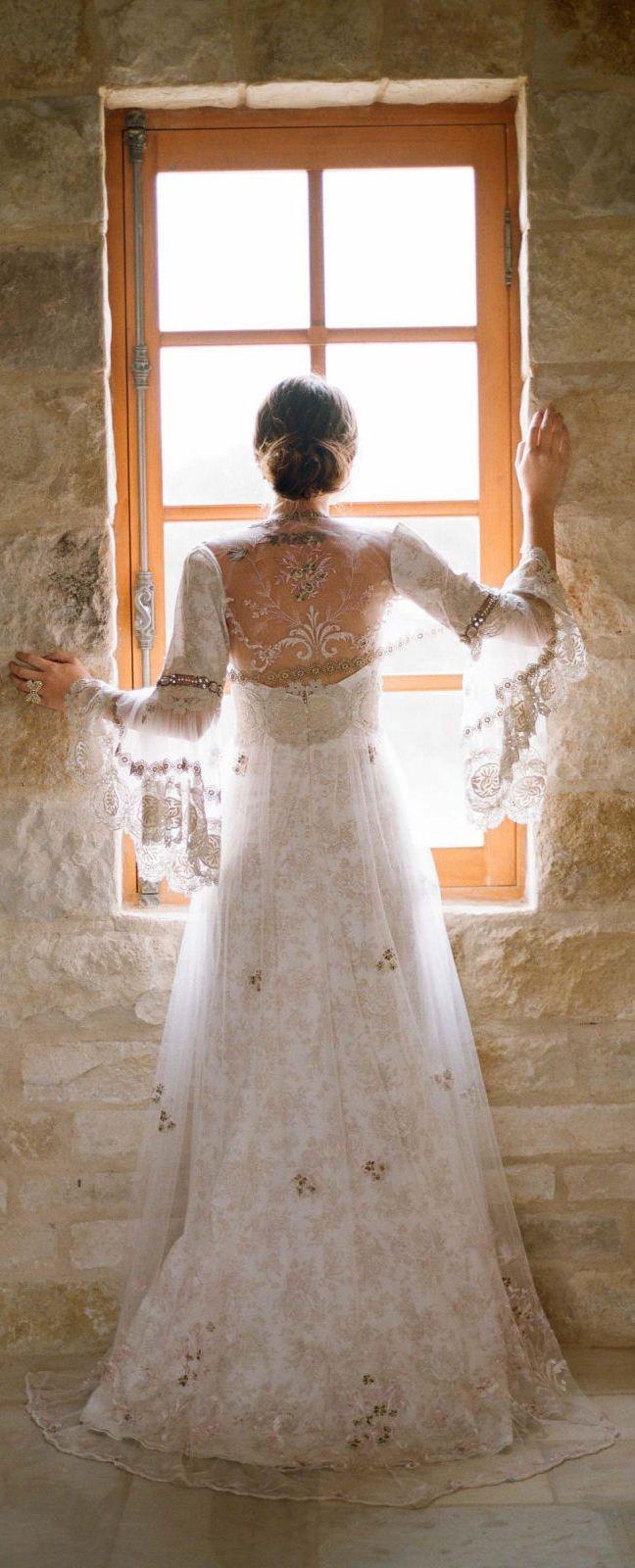Claire Pettibone 'Viola' gown & Fleur de Jour Bolero