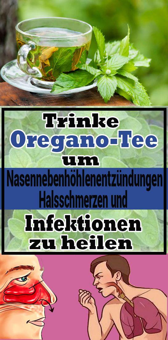 Trinke Oregano-Tee, um Nasennebenhöhlenentzündungen, Halsschmerzen und Infektionen zu heilen