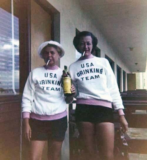 I soooo want to go on an international cruise with my friends and make shirts like this lol...how fun! And fun memories :) lol