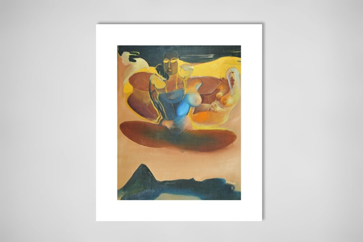 "Saatchi Online Artist: Leszek Gęsiorski; Oil, 1996, Painting ""Sitting"""