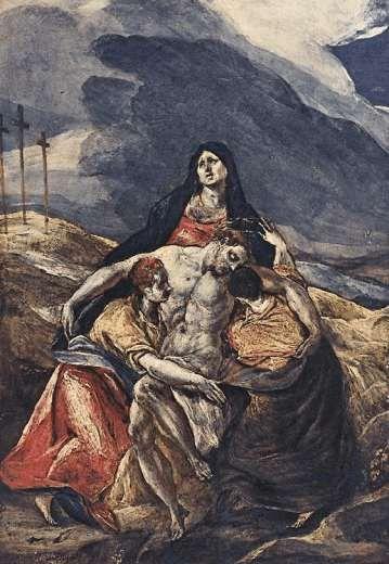 La Piedad (1572) de El Greco (pintor italiano) nació en Creta, en esa época pertenecía a Venecia