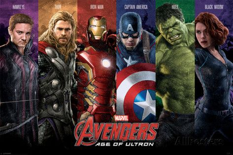 Avengers Age Of Ultron - Team Poster - AllPosters.co.uk