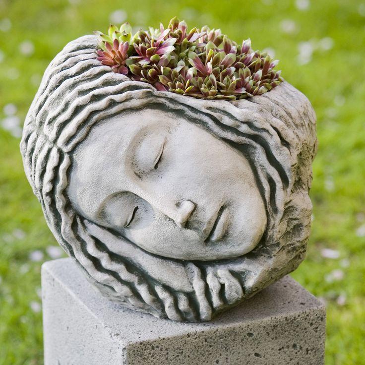 Campania International Sleeping Maiden Cast Stone Planter | from hayneedle.com