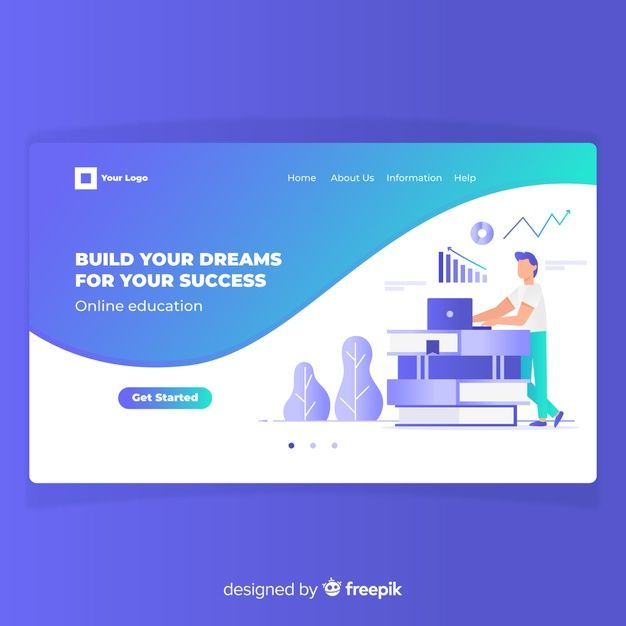 Download Online Education Landing Page For Free Marketing