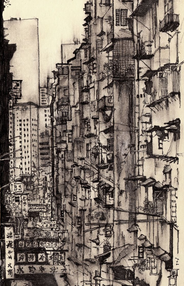 Artist Sketches Each Lonely City He Moves To -Zachary Johnson