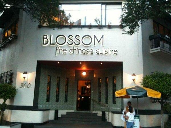 Restaurante Blossom de Comida China. San Francisco 360, Col.Del Valle