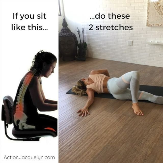 6 Stretches To Relieve Muscle Stiffness You Can Do At Your Desk At Work. Yoga Fo…