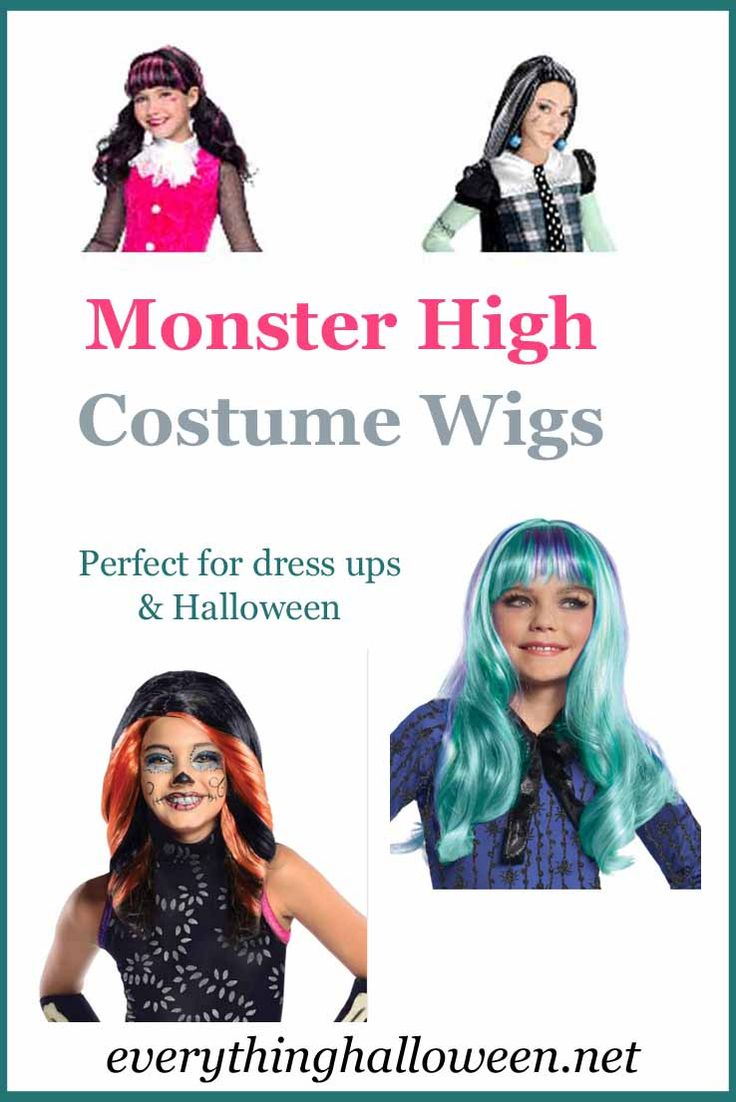 Monster High School costume wigs - fun for dress ups and Halloween!