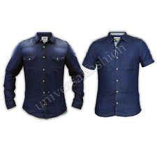 Mens Denim Shirts Jack South Cotton Collared Short Sleeved Slim Fit Summer New