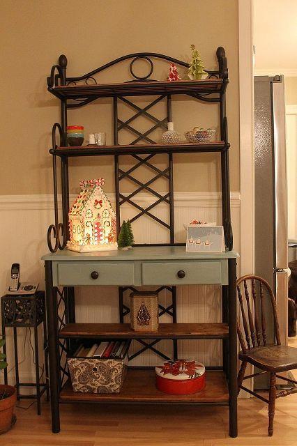 kitchen renovation, design d cor, kitchens, Painted baker s rack