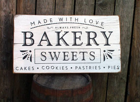 Made with love BAKERY wood sign farmhouse fixer pper style