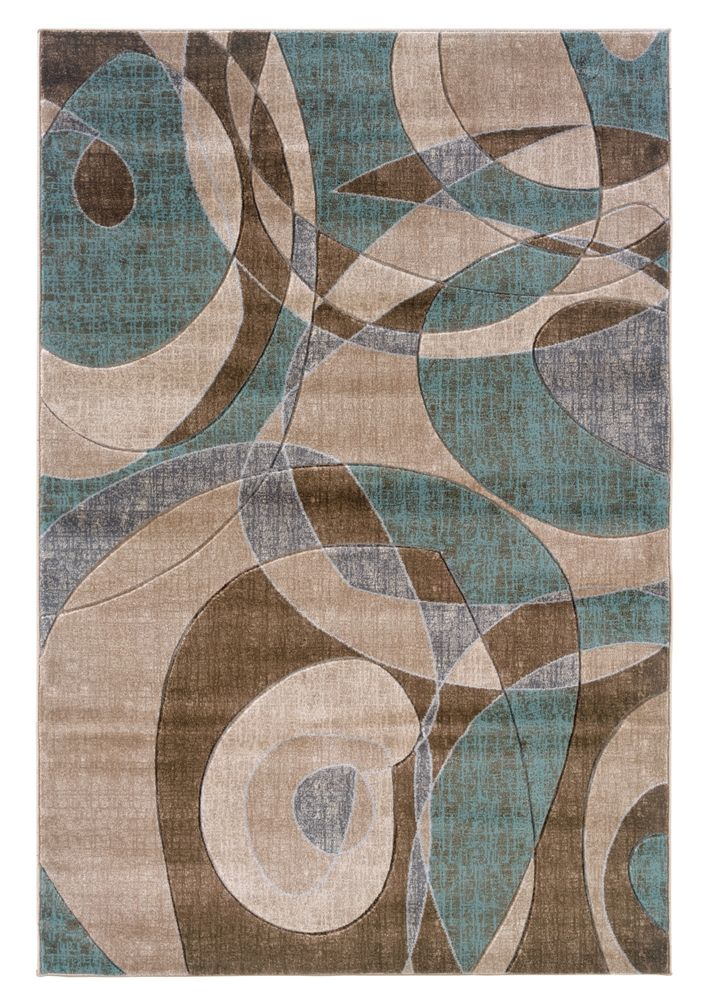 linon linon milan brown turquoise area rug wish this had different colors - Colorful Area Rugs