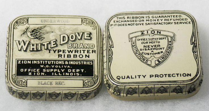 TYPEWRITER RIBBON TIN----WOW! THE BEST OF THE BEST IS THIS RARE WHITE DOVE BRAND