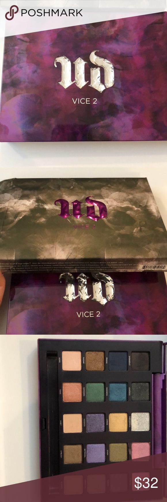 Urban Decay Vice 2 Only used once, lost the brush that comes with it. Purchased directly from Sephora, comes with original box. Urban Decay Makeup Eyeshadow