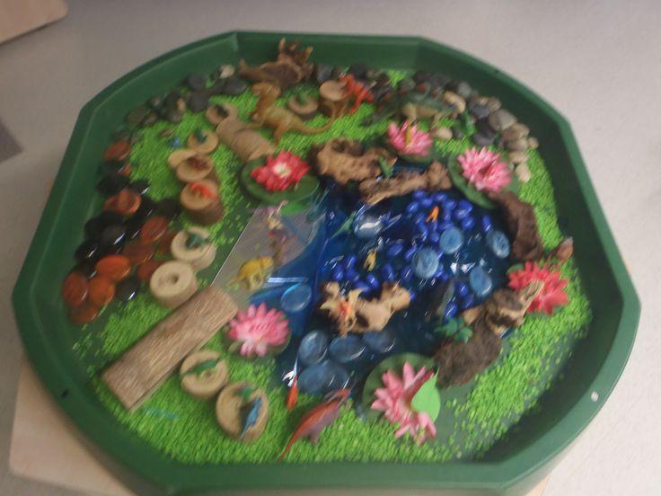 Dinosaur small world in tuff tray