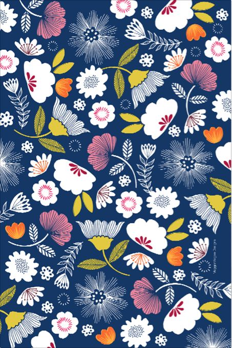 Navy floral tea towel. Tea towels available from https://www.facebook.com/pages/Maggiemagoo-Designs/1408541272798575?sk=photos_stream