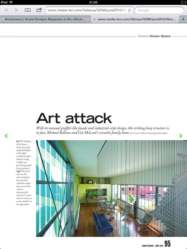Cube Graffiti House Grand Designs Magazine Interior Notice The Windows Part 85