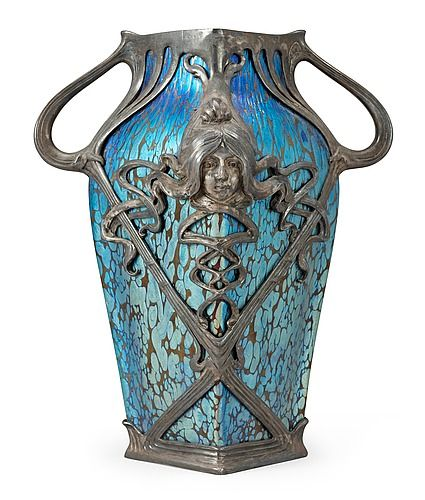 A Loetz Art Noveau iridescent glass vase.