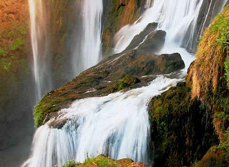Categorie: Landschappen Marokko waterval Ouzoud 5  Prijs per kaart vanaf: € 2,65 excl. porto Wenskaart is geheel naar eigen wens aan te passen, tekst, figuur of foto. www.wenskaartenshop.droomcreaties.nl