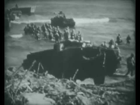 Marine Corps documentary report on the WWII Battle of Tinian in the Marianas in 1944. The Battle of Tinian Island was from July 24, 1944 to August 1, 1944 and was considered a necessary island in the Allied Island Hopping Campaign.