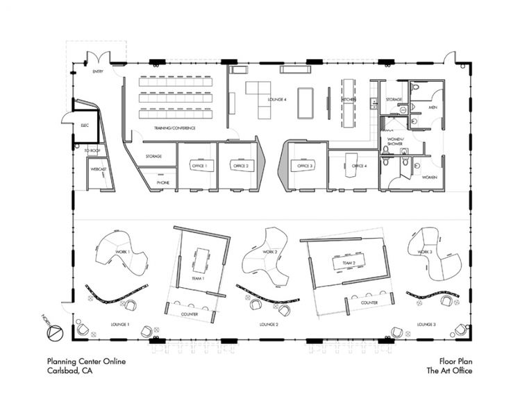 Coworking floorplan coworking spaces floorplans pinterest for Office space planning