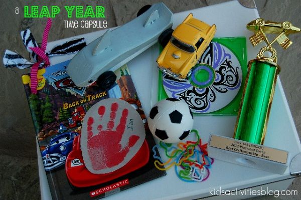 OK, this is adorbs. Build and hide a Leap Year Time capsule. We just might have to try this out!!