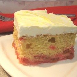 A variation of an upside-down cake that is quick and easy to prepare. Be prepared - this moist and delicious rhubarb cake quickly disappears!