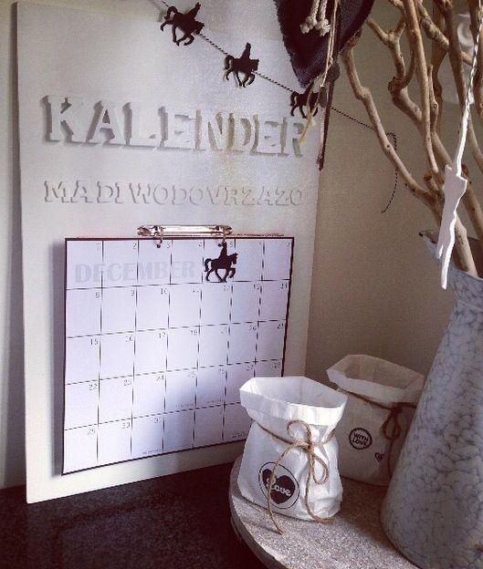Kalender en slinger sint