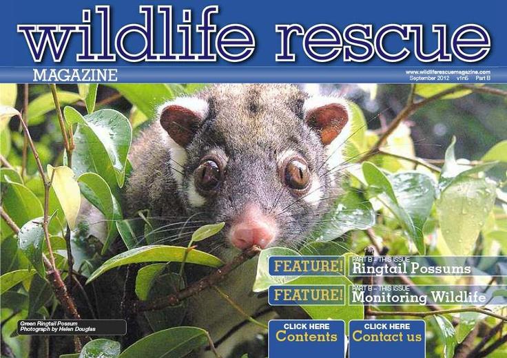 Issue 5B - Wildlife release, Monitoring Wildlife, Homeopathy in Wildlife. http://wildliferescuemagazine.com/issue-five.html