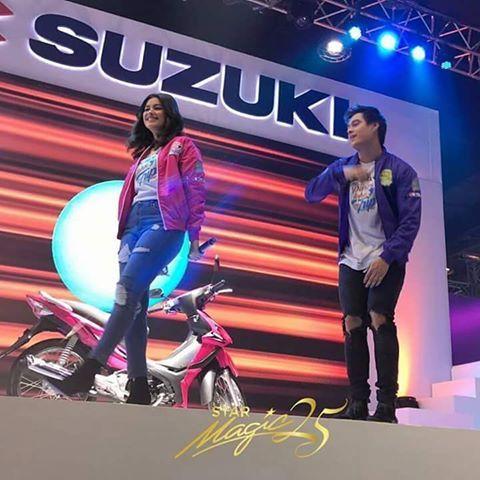 LizQuen on stage for the Suzuki event!   cto - ig: starmagicphils    #SuzukiTripWithLizQuen  #lizasoberano #enriquegil #KingandQueenOfTheGil #TeamForever