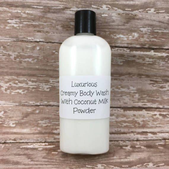 Coconut Body Wash  Handmade Luxurious Creamy Coconut Milk