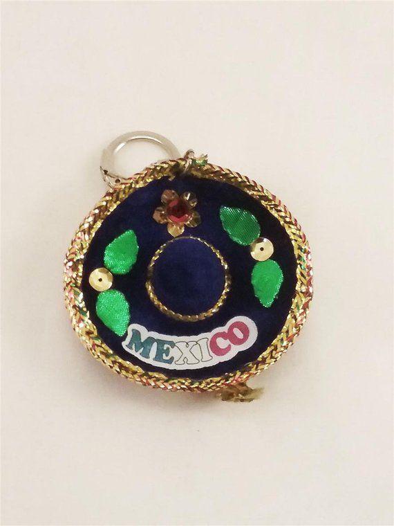 customized monogram Sombrero keychain initial charm personalized keychain sombrero charm hat keychain initial keychain