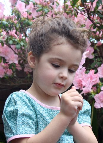 'Tea in the Garden' dress – by Little Emperor. #spring #green #pink #springdress #dress #girlsdress