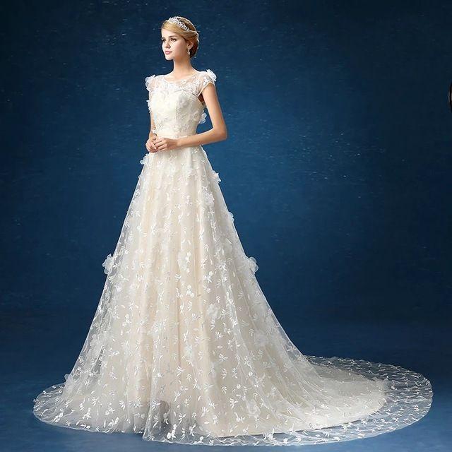 2016 robe de mariage lace up mulheres grávidas vestido de verão fino casamento cauda vestidos de noiva lace estilo Coreano campo novia