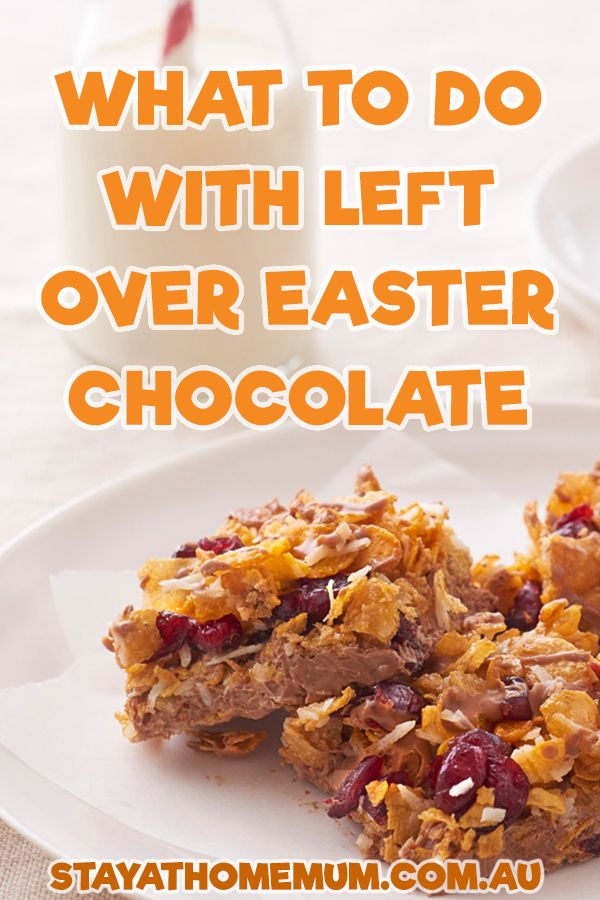 Recipes for leftover (or too much) Easter chocolate