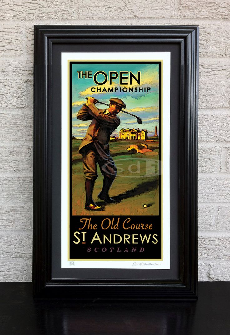 The Open, British Open, St. Andrews Old Course Golf art golf gift sports poster print painting - pinned by pin4etsy.com