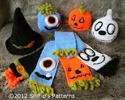 halloween crochet hats & Scarfs
