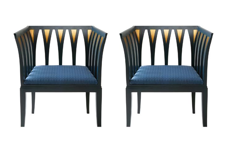 Blue Chairs In Collaboration With Furniture Maker Adelta The Art Deco