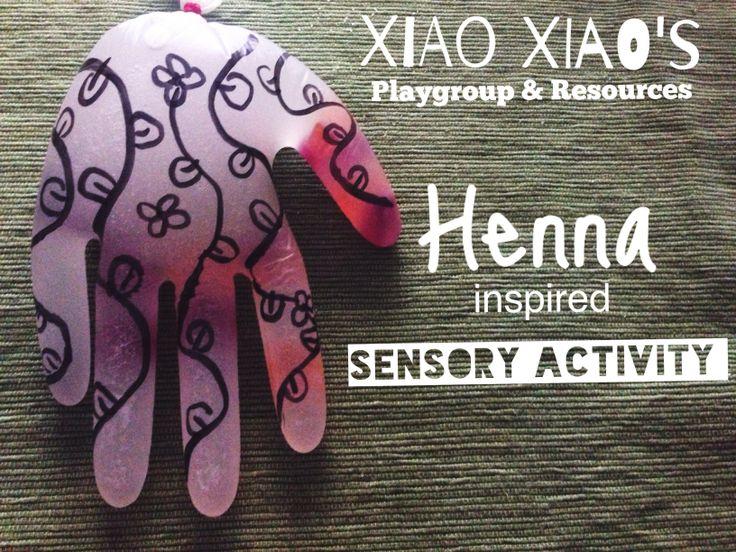 Henna inspired sensory activity.