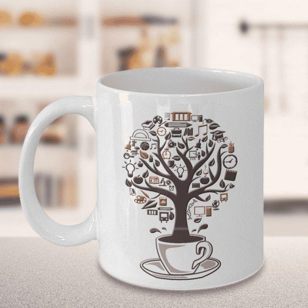 Coffee Lover Gift, Coffee Time, Coffee Tree Mug