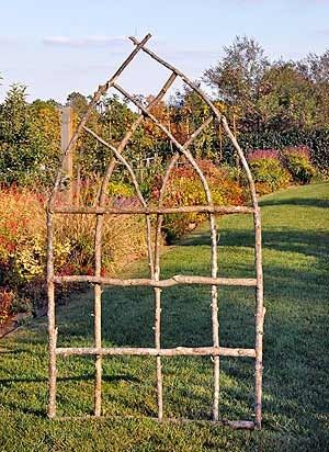 Using sticks you can find in the woods to make garden trellis for your wildlife-friendly climbers #homesfornature